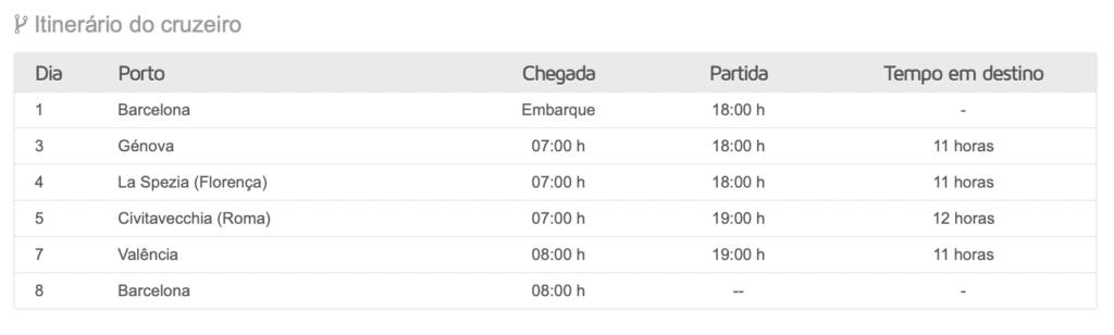 Cruzeiros de 8 dias Italia e Espanha a bordo - MSC Grandiosa*****