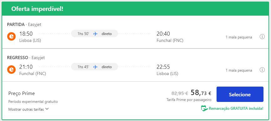 Voo - Lisboa - Madeira