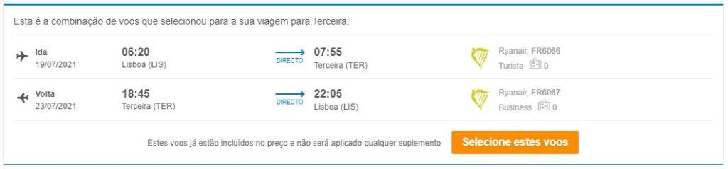 Voo + Hotel - Ilha Terceira